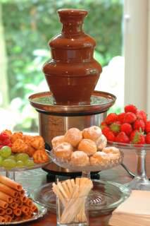 doppa i chokladfontän